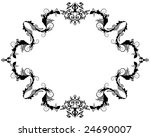 abstract floral vector frame...   Shutterstock .eps vector #24690007