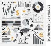 various graphs for your...   Shutterstock .eps vector #246900721