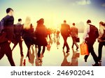 business people rush hour... | Shutterstock . vector #246902041