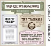 vector vintage style labels and ... | Shutterstock .eps vector #246905401
