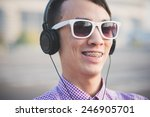 young crazy funny asian man in... | Shutterstock . vector #246905701