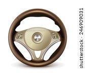 steering wheel  detailed... | Shutterstock .eps vector #246909031