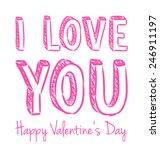 vector pink handwritten... | Shutterstock .eps vector #246911197