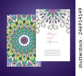 ornament round set with mandala.... | Shutterstock .eps vector #246914149