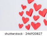 love day. handmade diy origami... | Shutterstock . vector #246920827