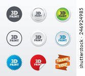 3d print sign icon. 3d printing ... | Shutterstock .eps vector #246924985