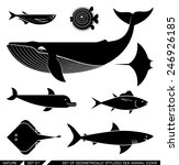 set of various sea animal icons ... | Shutterstock .eps vector #246926185
