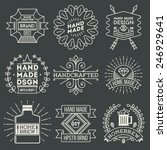 retro design insignias... | Shutterstock .eps vector #246929641