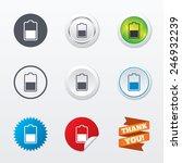 battery half level sign icon.... | Shutterstock .eps vector #246932239
