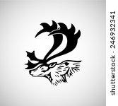 black deer isolated | Shutterstock .eps vector #246932341