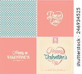 typographic valentines day... | Shutterstock .eps vector #246934525