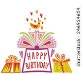 happy birthday greeting card... | Shutterstock .eps vector #246934654