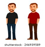 cool cartoon guy with beard in... | Shutterstock .eps vector #246939589