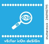 magnifying glass and eye vector ... | Shutterstock .eps vector #246940795