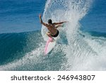 A Surfer Throws A Huge Plume O...