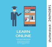 online learning education... | Shutterstock .eps vector #246943891