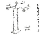 tree with a swing. vector... | Shutterstock .eps vector #246944725