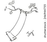 tree with a swing. vector... | Shutterstock .eps vector #246944755
