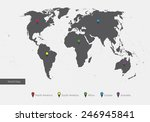 world map with the designation... | Shutterstock . vector #246945841