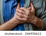 a young man suffering from... | Shutterstock . vector #246950611