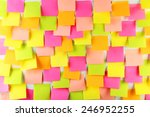 many colorful stickers on white ... | Shutterstock . vector #246952255