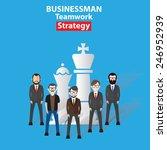 strategy  businessman  business ...   Shutterstock .eps vector #246952939