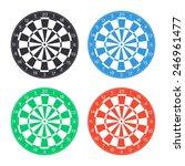 classic dart board icon  ... | Shutterstock .eps vector #246961477