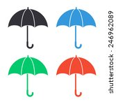 umbrella icon   colored vector... | Shutterstock .eps vector #246962089