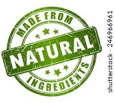 made from natural ingredients... | Shutterstock .eps vector #246966961