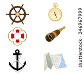 navigation vector icon set ... | Shutterstock .eps vector #246967999