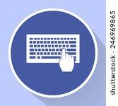 keyboard vector icon | Shutterstock .eps vector #246969865