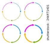 four segments arrow circle | Shutterstock .eps vector #246971401