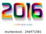 happy new year 2016 ... | Shutterstock .eps vector #246971581