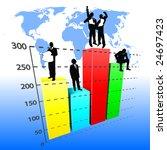 business graph vector | Shutterstock .eps vector #24697423