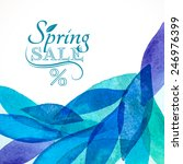 spring sale background... | Shutterstock .eps vector #246976399