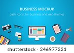 pack icons for business and web ... | Shutterstock .eps vector #246977221