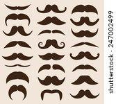 set of vector mustaches in... | Shutterstock .eps vector #247002499