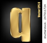 vector letter q from gold solid ... | Shutterstock .eps vector #247011724