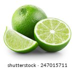 lime with slices isolated on... | Shutterstock . vector #247015711