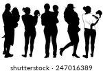 set of parents holding kids | Shutterstock .eps vector #247016389