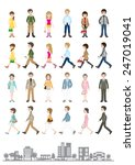 illustrations of various people ... | Shutterstock .eps vector #247019041
