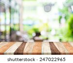empty tropical wood table and... | Shutterstock . vector #247022965
