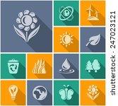 environment button set | Shutterstock .eps vector #247023121