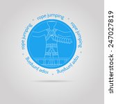 round blue icon with white... | Shutterstock .eps vector #247027819