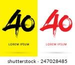 40  chinese brush grunge font ... | Shutterstock .eps vector #247028485