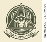 vector human eye in engraved... | Shutterstock .eps vector #247029304
