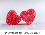 Two Cinnamon Heart Candies...