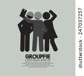 groupfie symbol  a group selfie ... | Shutterstock .eps vector #247037257