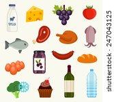 food icon set | Shutterstock .eps vector #247043125