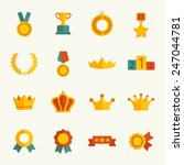 awards icon set | Shutterstock .eps vector #247044781